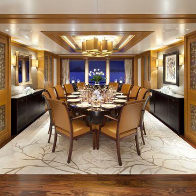 Lady Britt Yacht Main Deck Dining