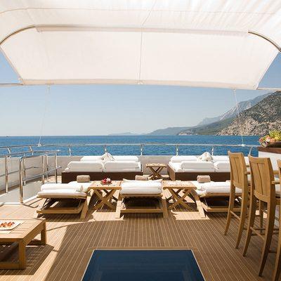 Namaste 8 Yacht Deck Lounge