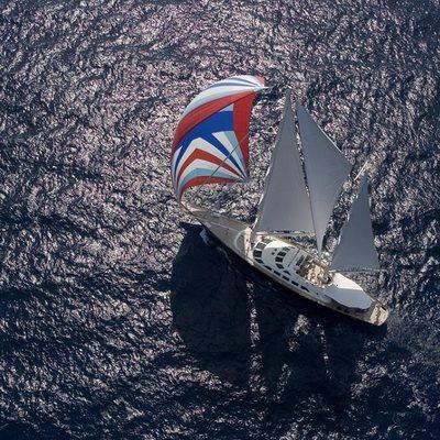 Principessa Vaivia Yacht Aerial View