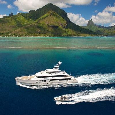 Big Fish Yacht Running Shot with Tender