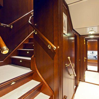 Axantha II Yacht Stairs