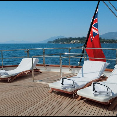 Parsifal III Yacht Sun Loungers