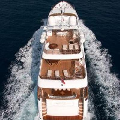 Aura Yacht Helicopter shot