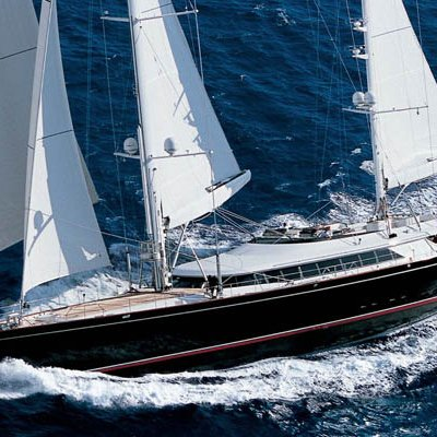 Parsifal III Yacht Running Shot - Side View