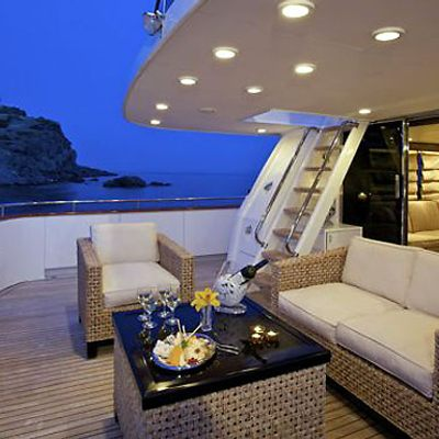 Lady Ellen Yacht Upper Aft - Night