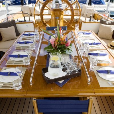 Windrose of Amsterdam Yacht Aft Deck