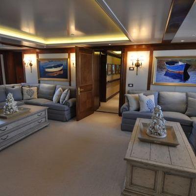 Lady Kathryn V Yacht Boat Deck Lounge Cinema