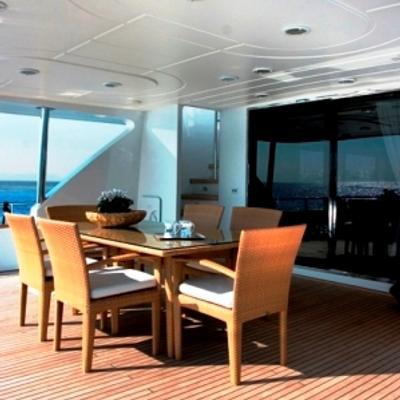 Let It Be Yacht Aft Deck
