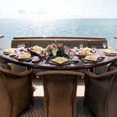 Attitude Yacht Exterior Dining