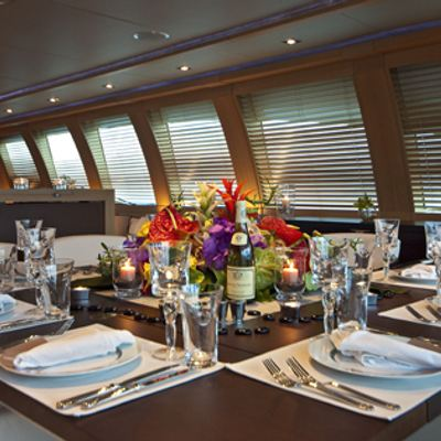 Escape II Yacht Dining