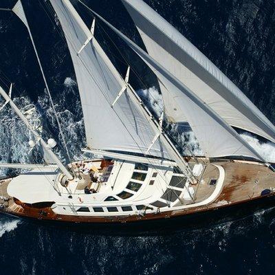 Principessa Vaivia Yacht Running Shot - Aerial View