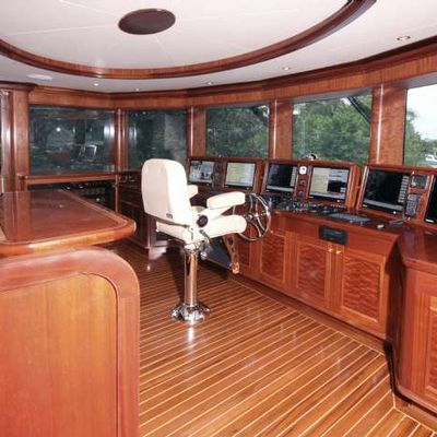 Far From It Yacht Pilothouse
