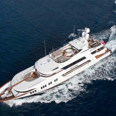 Ocean Club Yacht Running Shot - Aerial View