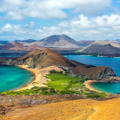 Isabela Island to Bartolome Island and neighbouring Santiago Island