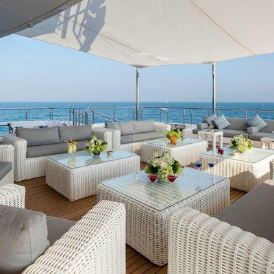 Moonlight II Yacht Seating Area