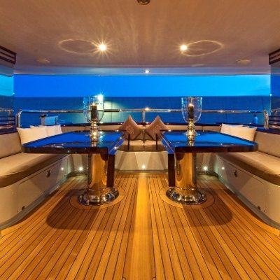 Callista Yacht Main Aft Deck