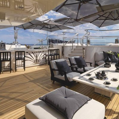 Silver Angel Yacht Sundeck Seating