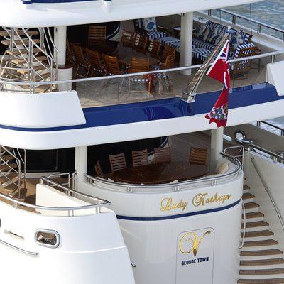 Lady Kathryn V Yacht Stern