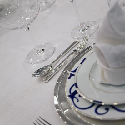 Baraka Yacht Detail - Table Set