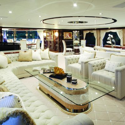 Diamonds Are Forever Yacht Upper Salon