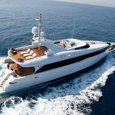 Palm B Yacht Running Shot