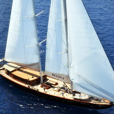 Aria I Yacht Aerial View