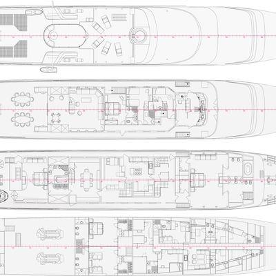 Magna Grecia Yacht Deck Plans