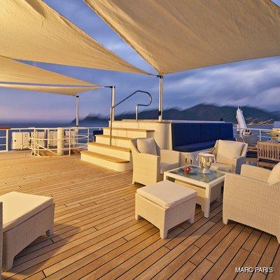 Seawolf Yacht Upper Deck - Sunset