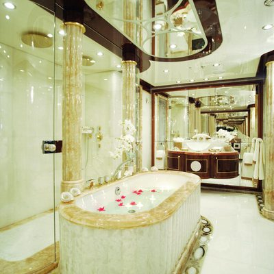 Diamonds Are Forever Yacht Master Bathroom