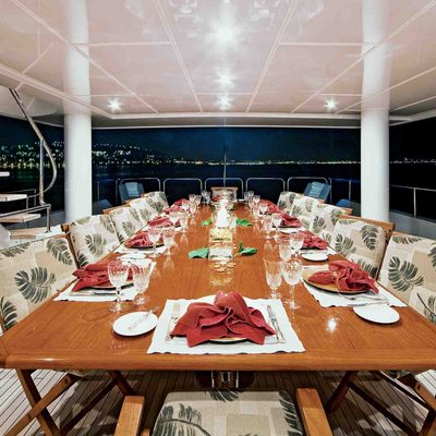 One More Toy Yacht Upper Deck Dining