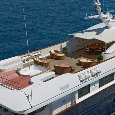 Sophie Blue Yacht Aerial View