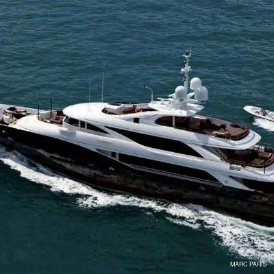 Liberty Yacht Aerial with Tender