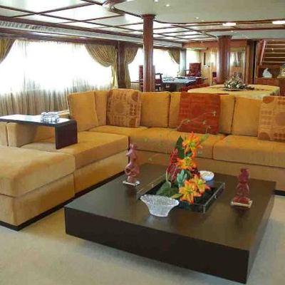 Blue Dawn Yacht Main Salon