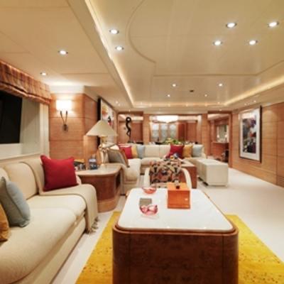 Balaju Yacht Main Salon - Side View