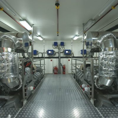 Tatiana Yacht Engine Room