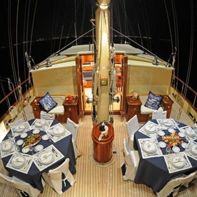 Ofelia Yacht Dining on Deck