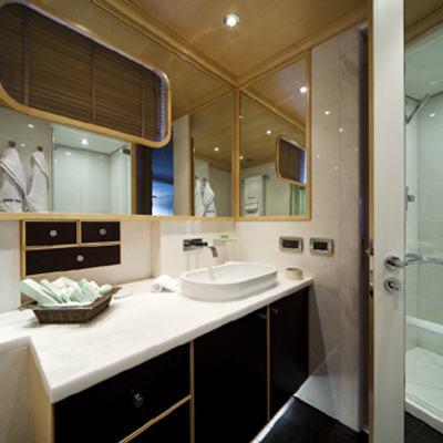 Deep Blue II Yacht Shower Room
