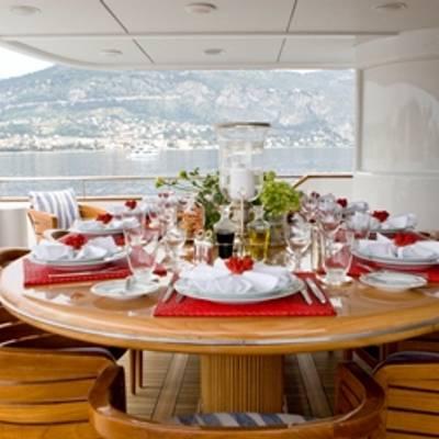 Balaju Yacht Bridge Deck Aft Dining