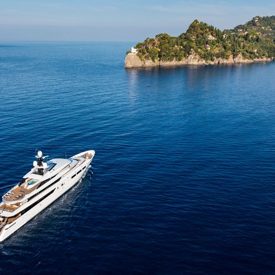 Suerte Yacht At anchor