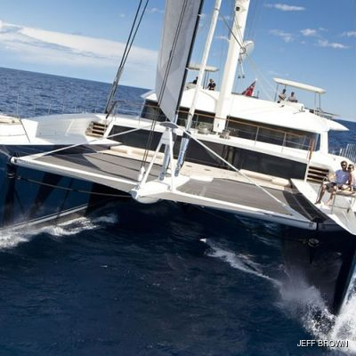 Hemisphere Yacht Running Shot - Front View