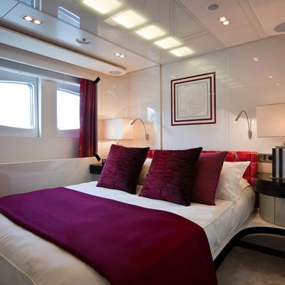 Quite Essential Yacht Red Guest Stateroom