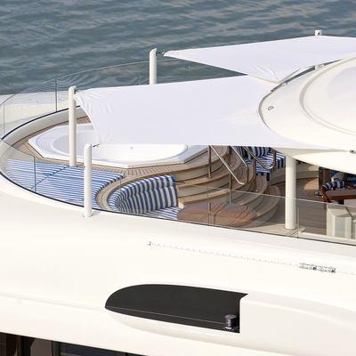 Lady Kathryn V Yacht Close Overhead