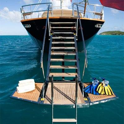 Antara Yacht Swim Platform - Front View