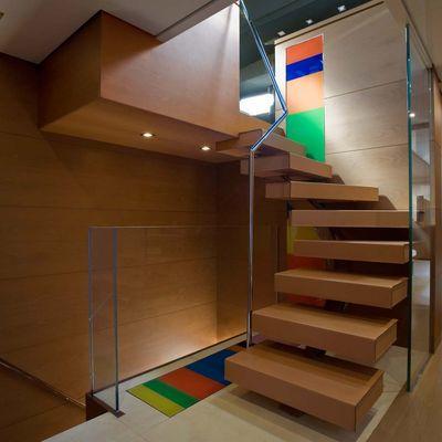 4A Yacht Stairs Leading to Wheelhouse