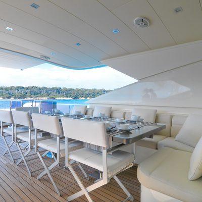 Sierra Romeo Yacht Bridge Deck Dining