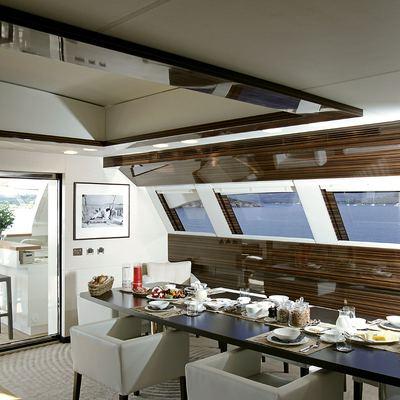 Gems II Yacht Dining Area