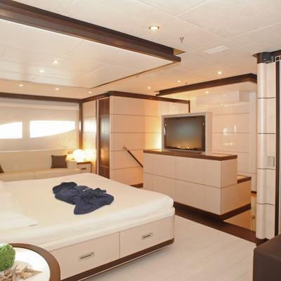 Michka V Yacht Master Stateroom - Screen