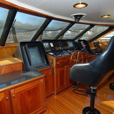 Lady J Yacht Pilothouse