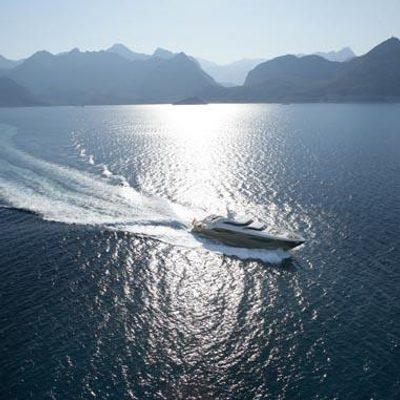 Namaste 8 Yacht Running Shot - Aerial