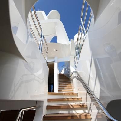 Seanna Yacht View up Staircase